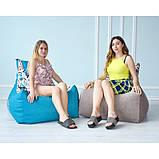 Бескаркасное кресло Барселона велюр, фото 6