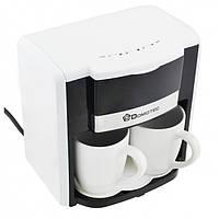 Капельная кофеварка DOMOTEC MS-0706 + 2 чашки белая