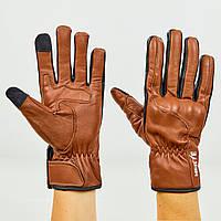 Мотоперчатки кожаные Nerve размер M-L коричневый M PZ-KQ1030_1