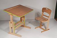 """Стол для школьника для дома письменный """"Розумник"""" ДСП+дерево"""