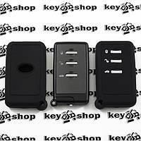 Чехол (черный, силиконовый) для смарт ключа Subaru (Субару) 3 кнопки