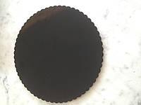 Усиленная подложка под торт черная односторонняя диаметр 35 см. Подложка для кондитерских изделий