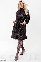 Демисезонное стеганое пальто на синтепоне