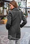 Короткое демисезонное пальто серое, фото 3