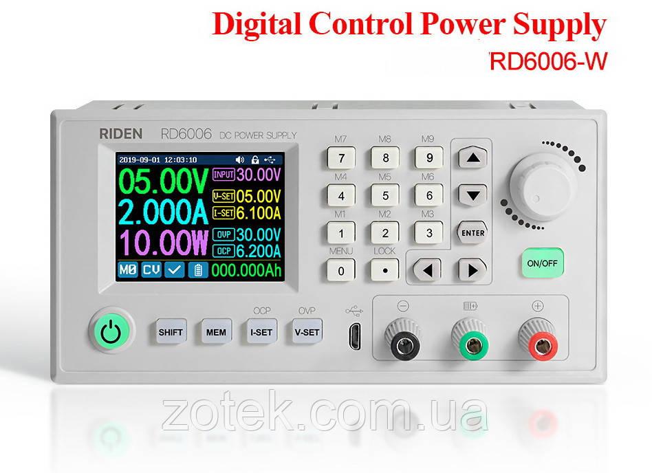 RD6006-W WiFi 0-60V 0-6A (360 Ватт) Цифровой Лабораторный блок модуль питания RIDEN