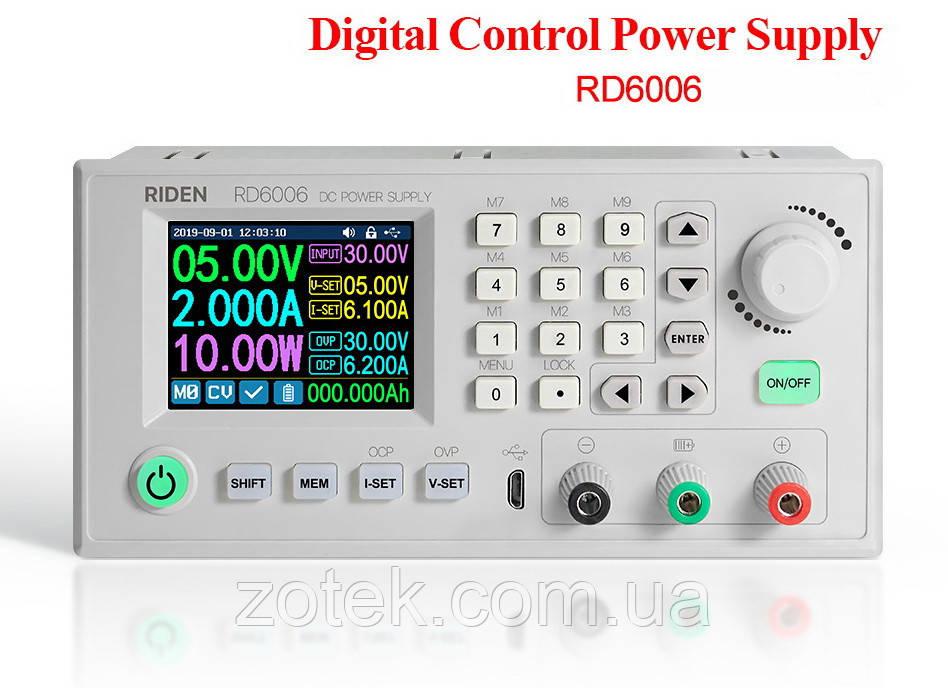 RD6006 0-60V 0-6A (360 Ватт) Цифровой Лабораторный блок модуль питания RIDEN