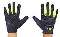 Мотоперчатки Scoyco размер M-XL (резина) Черный-салатовый M PZ-MC29_1