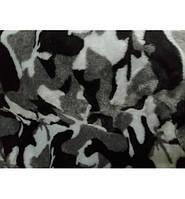 Чехлы на сидения универсальные Камуфляж Черные с белым полный комплект (искусственный мех)
