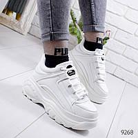 Женские белые кроссовки на платформе , хит продаж, ОВ 9268, фото 1