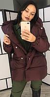 Куртка женская из плащевки на силиконе с капюшоном (К29523), фото 1