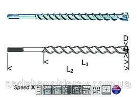 Сверло по бетону Bosch SDS-max Speed X 40/1200/1320 мм