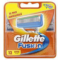 Сменные кассеты для бритья 12 шт Fusion (Original) - Gillette