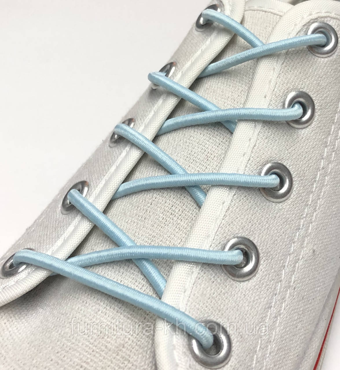 Шнурок Резиновый Круглый-Цвет Голубой (толщина 3 мм).Длинна 1 метр