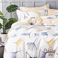 Постельное белье Вилюта (Viluta) сатин твил евро 359. Постель Вилюта евро. Комплект постельного белья евро.