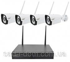 Комплект видеонаблюдения беспроводной DVR регистратор 4-канальный и 4 камеры HLV Full HD Camera Kit 8004/6673