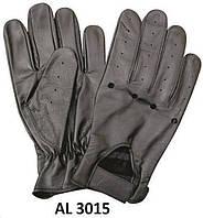Кожаные мужские перчатки для вождения черные AL3015