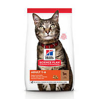 Hill's Science Plan Feline Adult Optimal Care Lamb сухой корм для кошек от 1 года до 6 лет, с ягненком, 1.5 кг