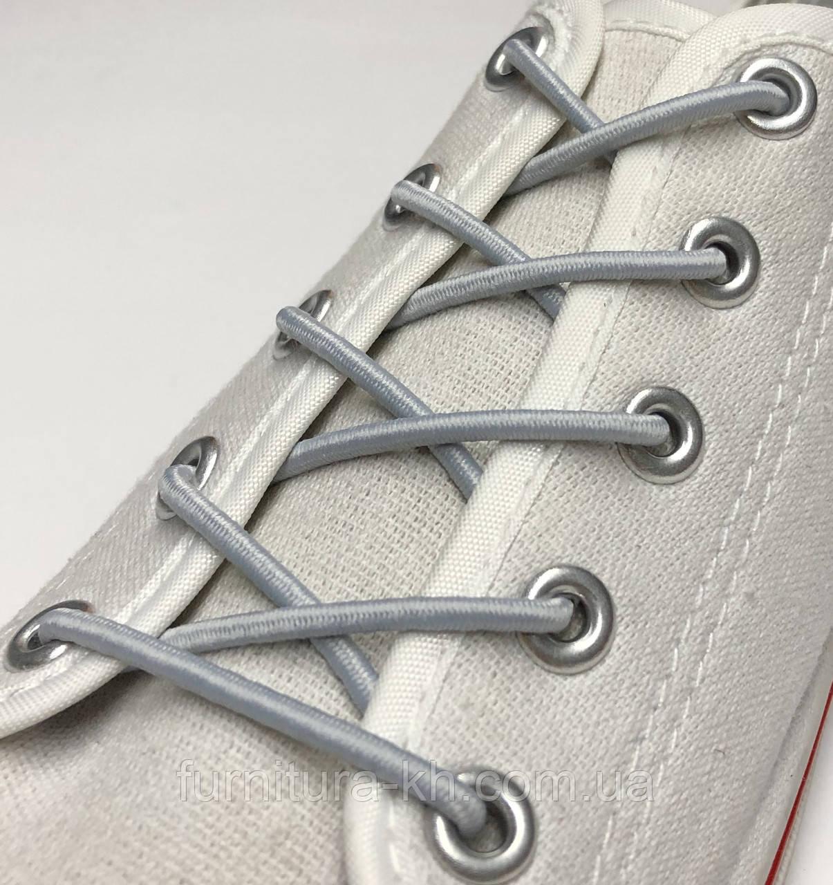 Шнурок Резиновый Круглый-Цвет Светло Серый (толщина 3 мм).Длинна 0,70 см