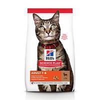 Hill's Science Plan Feline Adult Optimal Care Lamb сухой корм для кошек от 1 года до 6 лет, с ягненком, 0.3 кг