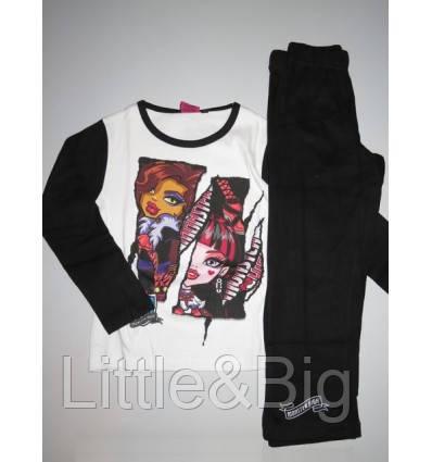 """Пижама для девочки """"Monster High"""" Dishey Белая (830544)"""