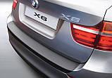 Пластиковая защитная накладка на задний бампер для BMW Х6 E71 2012-2014, фото 2