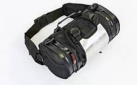 Моторюкзак-пояс с металлической защитной накладкой AO SI MAN NI (PL,PU, алюм, 34х19х19см,черный) PZ-T9909