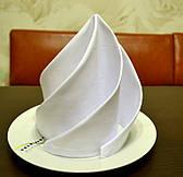 Салфетка 45х45 Белая Р-195 для Сервировки Хлопок+ПЭ Евроуголок