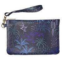 Женская косметичка, дорожная сумочка (Экзотические растения, джунгли) ручной роботы из эко-кожи