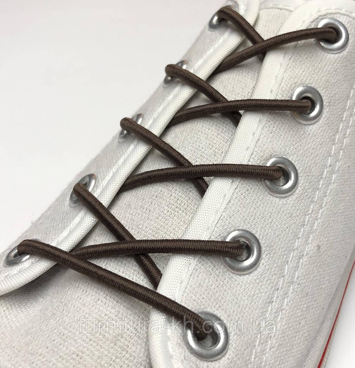Шнурок Резиновый Круглый-Цвет Темный-Коричневый (толщина 3 мм).Длинна 1 метр