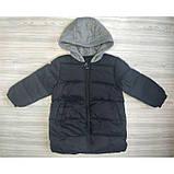 Пальто еврозима черное Рост: 90 см, фото 2