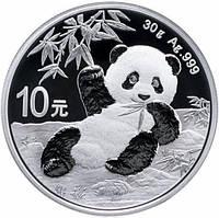 "Серебряная монета ""Китайская Панда"" 2020 г. 30 грамм"