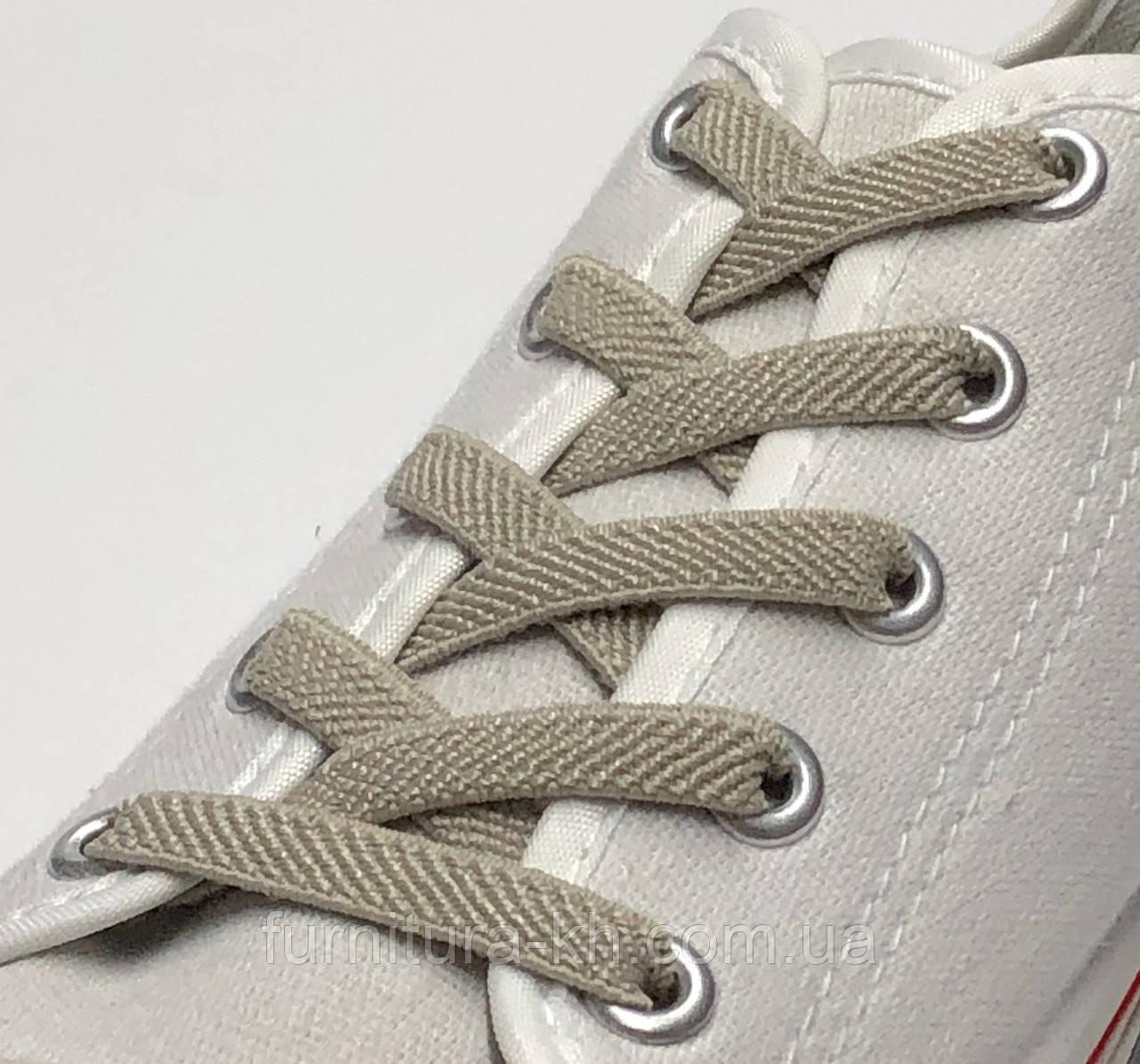 Шнурок Резиновый Плоский-Цвет Светло Бежевый  (толщина 7 мм).Длинна 0,70 см