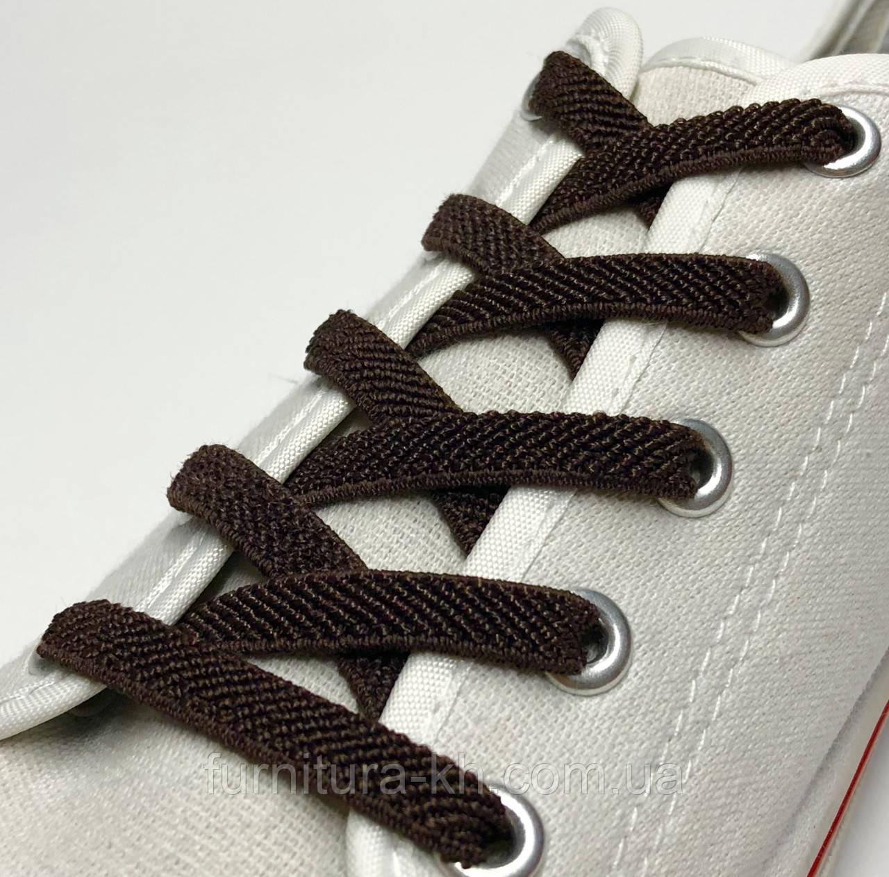 Шнурок Резиновый Плоский-Цвет Темно Коричневый (толщина 7 мм).Длинна 0,70 см