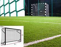 Профессиональная сетка на ворота 3х2 м. - мини-футбол, гандбол, шнур полипропилен 4,5 мм. Green (Испания)/пара #F/B