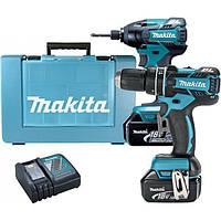 Набор инструментов Makita DLX2002 (DHP480Z, DTD129, BL1830x2, DC18RC) (DLX2002)