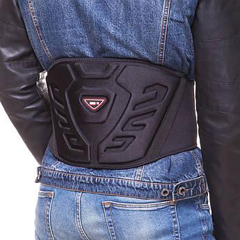 Пояс защитный для мотоциклиста Nerve (PU, полиэстер, M-2XL, черный) PZ-6001