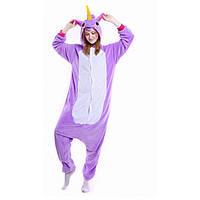 Пижама кигуруми Сиреневый Единорог