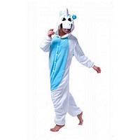 Пижама кигуруми Бело-голубой Единорог