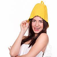 Шапка для бани и сауны Fassbinder™ цветной войлок (желтый)