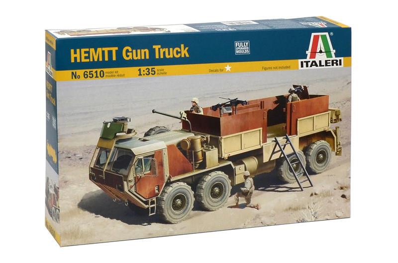 HEMTT Gun Truck. Сборная модель военного грузового автомобиля. 1/35 ITALERI 6510