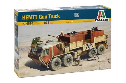 HEMTT Gun Truck. Сборная модель военного грузового автомобиля. 1/35 ITALERI 6510, фото 2