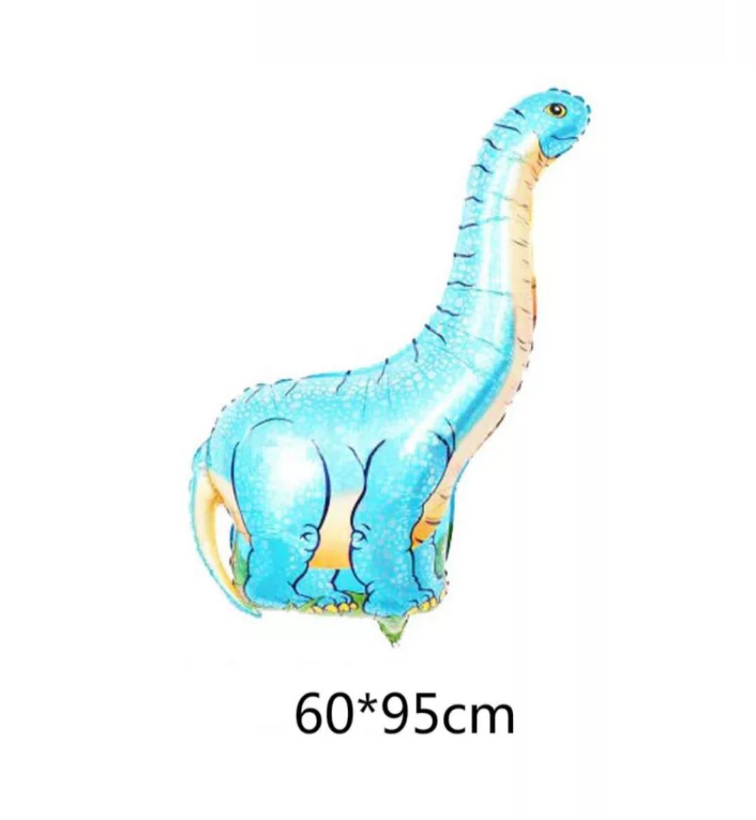 Фольгированный шар динозавр диплодок голубой 95*60 см