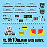 HEMTT Gun Truck. Сборная модель военного грузового автомобиля. 1/35 ITALERI 6510, фото 5