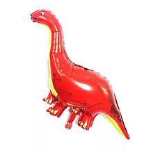 Фольгований куля динозавр бронтозавр червоний 120*68 см