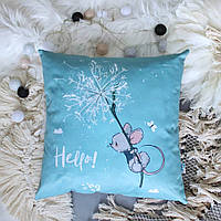 Декоративная подушка Littleowl мышка на одуванчике 40х40 см