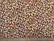 Ткань Французская вискоза софт мелкие цветочки, горчица, фото 3