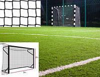 Сетка на ворота 3х2 м. - мини-футбол, гандбол, шнур полипропилен 3,5 мм. Black (Испания)/пара #F/B