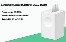 Зарядное устройство быстрая зарядка QC 3.0 Блок питания / В продаже есть кабель Type C /