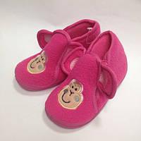 Детские розовые тапочки - сапожки для девочки,  для дома и садика, 18 размер