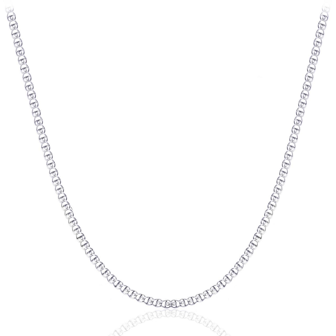 Родированная серебряная цепочка ЛАВ 3.5 мм, 45 см
